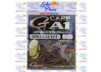 ANZUELO GAMAKATSU G-CARP A1 SABLE,  Nº 2, CAMOUFLAGE SPECIALIST BOLSAS DE 10 Unidades