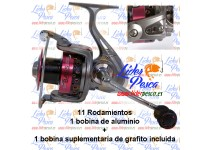 CARRETE LINEAEFFE RAPID BASS FD M20, D-0,25mm/110mts. 11 ROD, 2 BOBINAS.