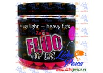 BOILIES CARP ZOOM MINI POP UP FLUORESCENTE, FLOTANTE, FRESA/PESCADO. 10mm. 100gr.