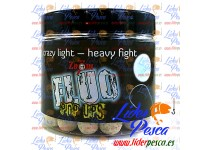 BOILIES CARP ZOOM MINI POP UP FLUORESCENTE, FLOTANTE, PIÑA/SEPIA. 10mm. 100gr.