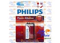 PILA ALCALINA 9V 6LR61 BLISTER DE UNA UNIDAD PHILIPS