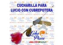 CUCHARILLA LUCIO CON LANA ROJA, 26gr. INCLUYE CUBREPOTERA JP