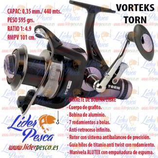 CARRETE TORN VORTEKS. 7 Rodamientos, Freno 8kg. Drag. D-0,35/440