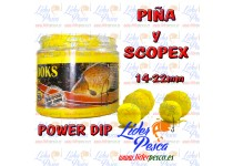 BOILIES POISSON FENAG HOOK POWDER DIP PIÑA & SCOPEX, 14/20mm. 200ml.