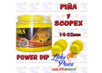 BOILIES POISSON FENAG HOOK POWDER DIP PIÑA & SCOPEX, 14/20mm. 200ml.