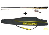 EQUIPO GRAUVELL COMBO PRO SPIN 210L + FUNDA TRIP 100S