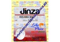 CARTERA ANZUELO GV ISEAMA, Nº 8, D-SEDAL 0,28mm. JINZA 10 ANZUELOS.